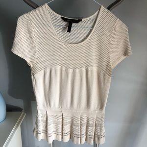 ⭐️2/20$! BCBG knit peplum top